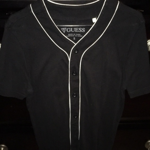 Guess Other - Guess black baseball jersey size small